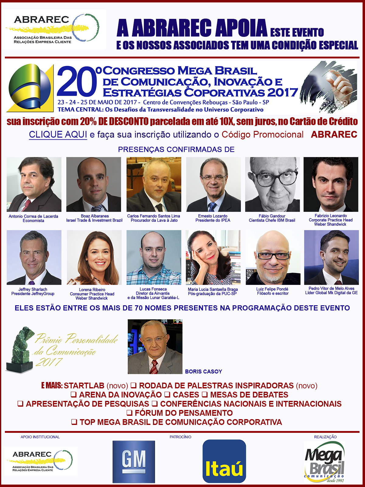 ABRAREC no Congresso Mega Brasil 2017