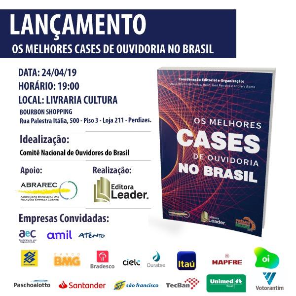 Lançamento do Livro Os Melhores Cases de Ouvidoria no Brasil